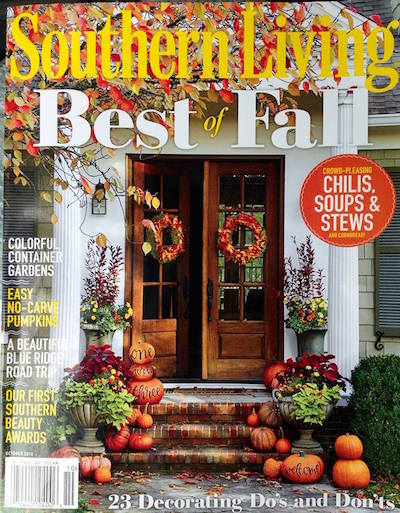 Southern Living Best of Fall October 2016 Cover small